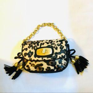 CHRISTIAN AUDIGIER Leopard Print Shoulder Bag